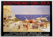 'Southend-on-Sea', English LNER vintage Railway travel poster print
